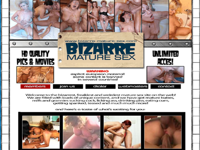 Bizarre Mature Sex