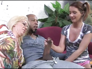 Black guy fucks and creampie 18YO girl and granny