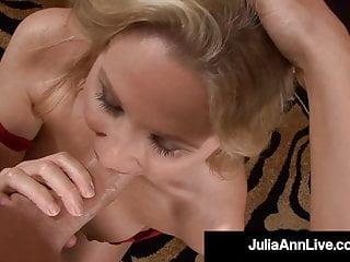 Yankee damsel Julia Ann Face boinks rock hard sausage pov!