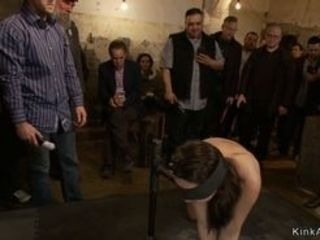 Dark haired stunner Marley Blaze dragged in public place utter of viewers and there trussed and with immense beef whistle fuckbox and anal invasion po