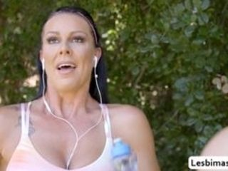 Romi Rain and Texas Patti likes jogging in the morning when abruptly Texas is having some problem with her soles and Romi offers her some rubdown Not