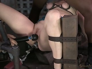 Pretty red haired MILF Cici Rhodes got throat boarded by 2 hard dicks