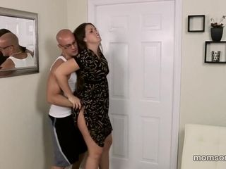 Son-in-law luvs fondling her mature step-mom