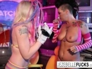 """""""Surreal sapphic fuck-a-thon with Jezebelle and Leya"""""""