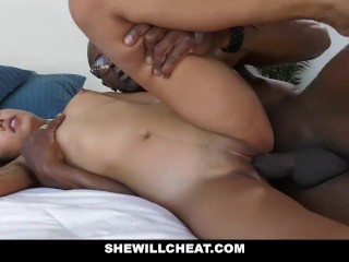 SheWillCheat - Hot puerile get hitched Fucks BBC greatest extent skimp Watches