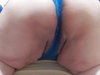 hot in blue panties