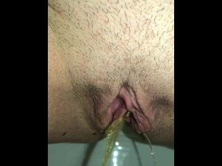 I sent my hubby this rest room point of view movie of my very first morning piss up close.