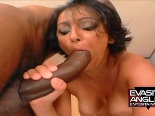 Latina mom blows big big black cock