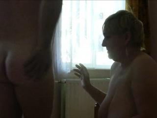 Granny With Big Boobs Sucks Dick and Eats Ass