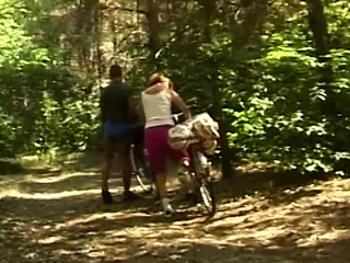 Fuckfest bike excursion with gross senior mummy
