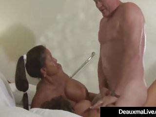 Gung-ho Cougar Deauxma & GF Minka Banged & Jizzed in the first place off out of one's mind Huboff out of one's mind!