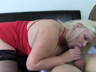 Massive platinum-blonde grandma Gets boned rock hard