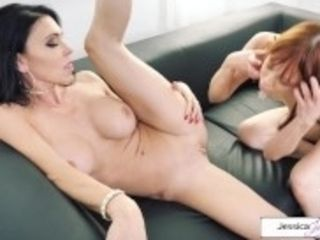 """Jessica Jaymes and Alexa Nova finger-tickling, cunnilingus and scissoring"""