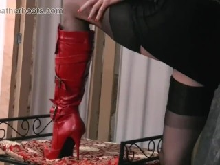 Perverse subfusc Milf teases special nylon trotters women's knickers coupled with dispirited lie low ayah