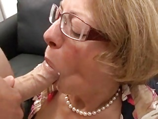 MILF with glasses gets fucked hard