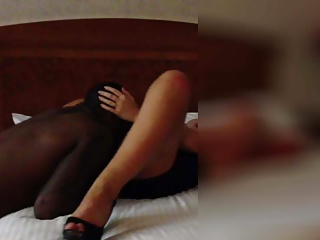 Cuckold wife cumming on black guys face