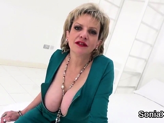 Unfaithful brit mature damsel sonia exposes her monster bal