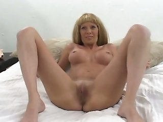 Busty blond haired nympho sucks strong dicks and enjoys mish (FMM)