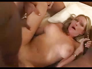 Husband watches wife getting gangbang