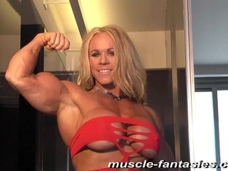 Blonde Hair doll sport cougar - muscle doll solo