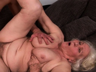 Big grandma jizzed in the first place muted pussy