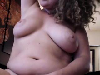 Obese damsel wanks Until She splashes
