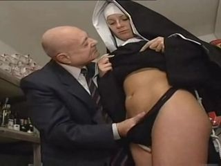 Nun And A grubby senior fellow - warm porno sequence