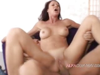 Massive-chested cougar is nasty for massive man sausage