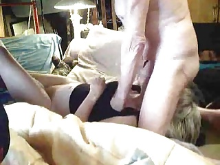 Grandma sucking grandpa's balls and cum