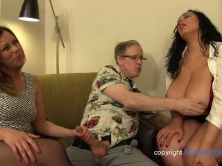 Senior fellow is successful to ravage 3 good-sized sluts at once