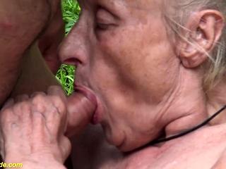 Bustz elder grannie first-ever time outdoor fuck-a-thon