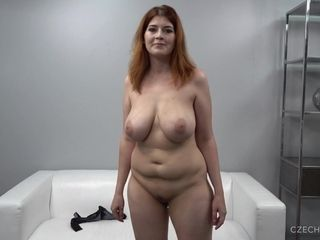 Big-Breasted ginger-haired lush mom At audition