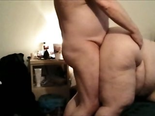 My fat wife sucks my prick and enjoys rough rear banging