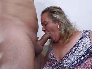 Enormous boob grandma with bf