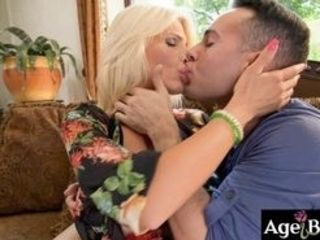 Tiffany Rousso is a monstrous tittied mature nymph, who uses all her sexual practices on Raul Costa She gave him a super-cute inhale and let him finge