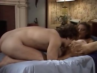 Whorish brunette wife sucks big cock in flying 69 position