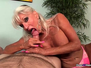 Grannie suck off compete - Sally torments His immense dick