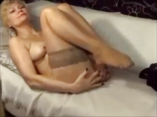 Wondrous blond haired slutty mature lady exposed boobs