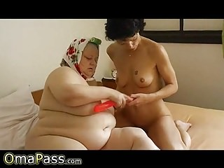 OmaPasS flimsy Granny Pussy dilettante Closeup film over
