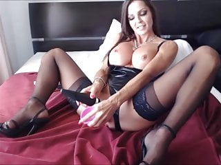 Felicia ravages with gigantic pinkish faux-cock