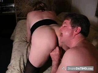 Spouse slurps my jizm from hius fuckslut wifes slit