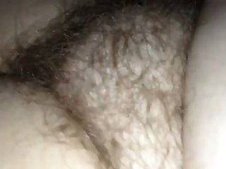 Homemade clip with me fingering my wife's meaty and hairy vag