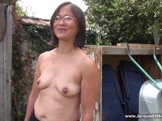 Japanese grandma gang-fuck porno