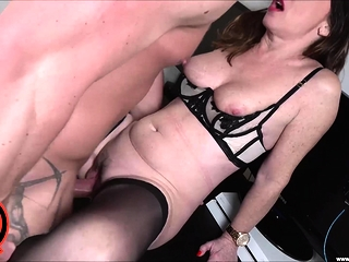 LUKE HARDY - cougar Sara deepthroats And ravages beef whistle at Work