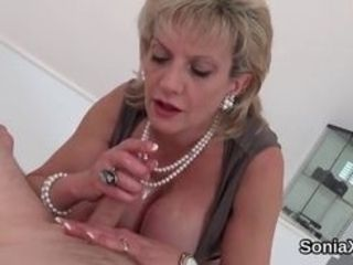 Total titted bi-curious housewife gill ellis kittles her monster jugs and elations narrowed puss in undergarments