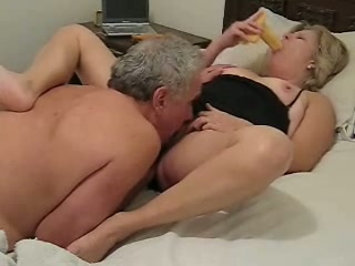 My mature blonde wife lets me lick and toy her pussy and asshole