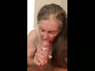 Granny Makes Handjob be proper of devour Sperm 02