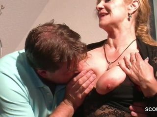 Monster dinky Step-Son entice highly molten honey German mommy to Have hookup