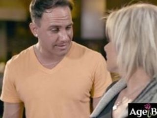Ash-blonde mature nymph Payton is so revved on by the youthful men dinking around and advances that she cant stand against him any longer however they