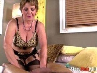 Big-ass grandmother railing a lengthy ebony stiffy